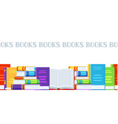 Seamless pattern with books vector