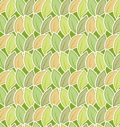 Seamless stylized foliage pattern vector image