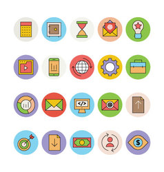 seo and marketing icons 1 vector image