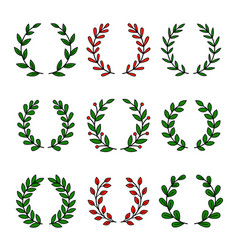 set laurel wreath for awards vector image