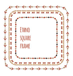 Set square flat tribal frames from branches vector