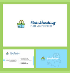 shopping logo design with tagline front and back vector image