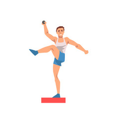 shot putter male athlete character in sports vector image