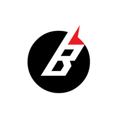 Sign of the letter b vector