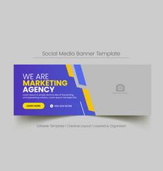 social media banner for digital business marketing vector image
