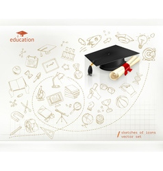 Studying and education infographics vector image