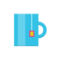 tea mug flat icon vector image
