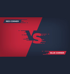 Versus background sport competition vs poster vector