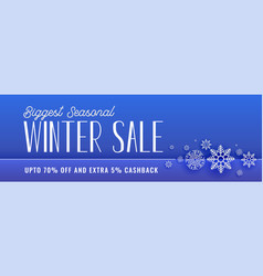 Winter sale banner with snowflakes vector