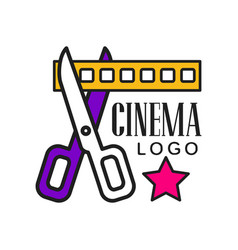 cinema logo template creative design vector image vector image