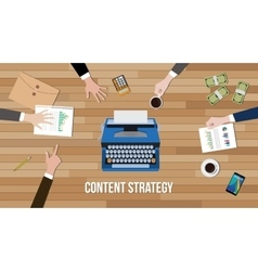 content strategy concept team work together with vector image vector image