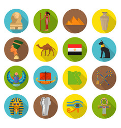 egypt symbols set vector image