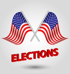 flag usa united states of kingdom elections vector image