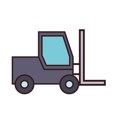 forklift truck icon vector image vector image