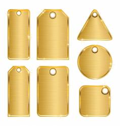 golden tags vector image