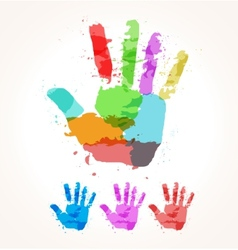Hand of paint stains vector image vector image
