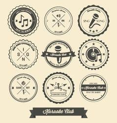 Karaoke Vintage Label vector image