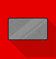 lcd television icon in flat style isolated on vector image
