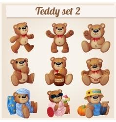 Teddy bears set Part 2 vector image vector image