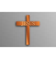 Wooden Cross Calvary vector image