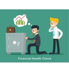 Businessman check financial or money health with vector
