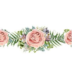 floral seamless pattern bouquet design garden vector image vector image