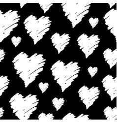 hand drawn hearts pattern vector image vector image