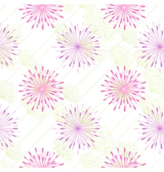 Colorful Flower Seamless Pattern vector image vector image