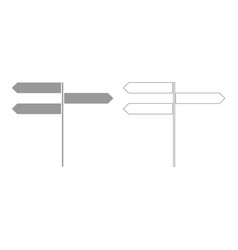 Direction sign set icon vector