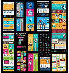 Mega Collection of Website templates web headers vector image vector image