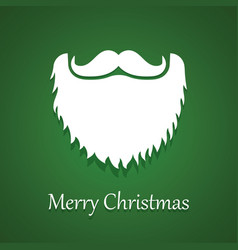 santa claus beard and moustache white christmas vector image vector image