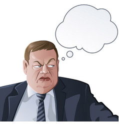 thinking official or boss vector image vector image