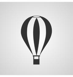 Vintage hot air balloon flat style vector image
