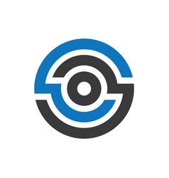 abstract circle company logo vector image