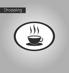 black and white style icon logo coffee cup vector image vector image