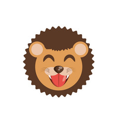cute face lion animal cheerful vector image vector image