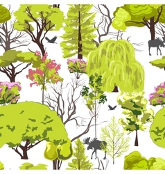 Forest tree sketch seamless vector image vector image
