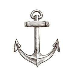 Hand drawn sketch anchor vector image