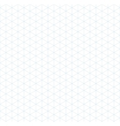 Light blue isometric grid seamless pattern vector image