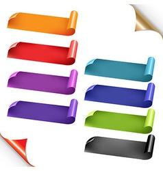 Web Colorful Ribbons Set vector image