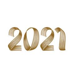 2021 symbol isolated on white background vector image