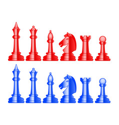 abstract color chess set vector image