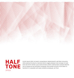 abstract red halftone template low poly trendy on vector image