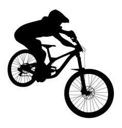 Athlete mtb downhill vector