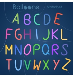 Balloons alphabet letters vector