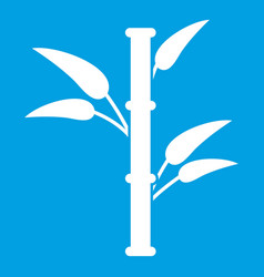 Bamboo icon white vector