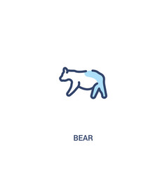bear concept 2 colored icon simple line element vector image