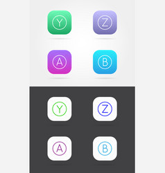 Big set app icon template with guidelines fresh vector