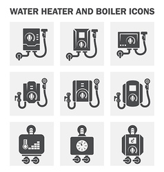 Boiler water icon vector image