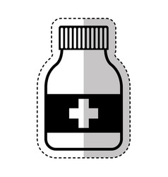 bottle drugs isolated icon vector image